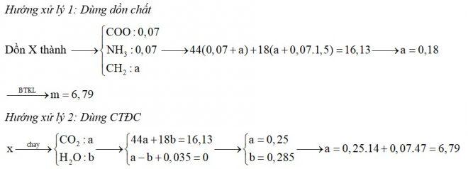 Hỗn hợp X gồm glyxin, alanin và valin. Cho m gam X vào dung dịch NaOH dư thấy có 0,07 mol NaOH phản ứng. Nếu đốt cháy hoàn toàn m gam hỗn hợp X