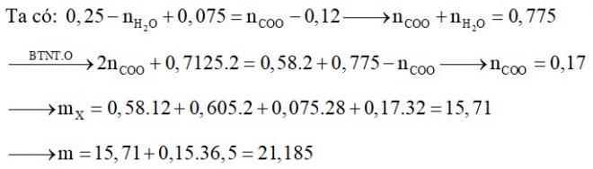 Hỗn hợp X gồm Glu, lys, Val, Ala và Gly. Đốt cháy hoàn toàn 0,12 mol hỗn hợp X cần 0,7125 mol O2 thu được H2O, N2 và 0,58 mol CO2