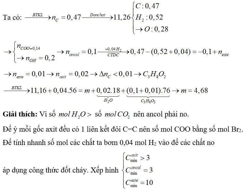 Cho X, Y là hai đơn chất thuộc dãy đồng đẳng của axit acrylic và MX < MY; Z là ancol có cùng số nguyên tử cacbon với X
