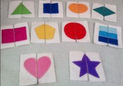 Dạy trẻ về đối xứng, các hình đối xứng