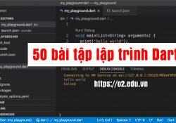 50 bài tập lập trình Dart cơ bản